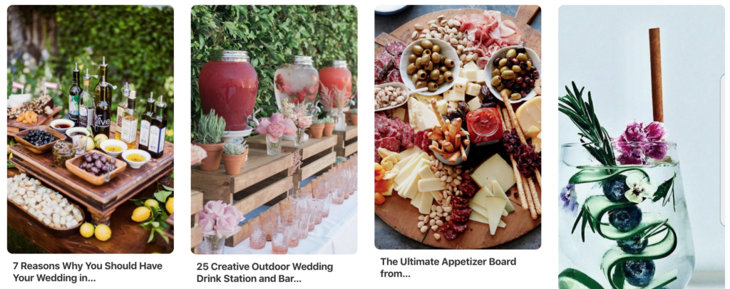 diy wedding happy hour