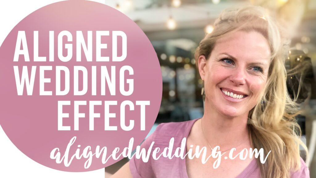 aligned wedding