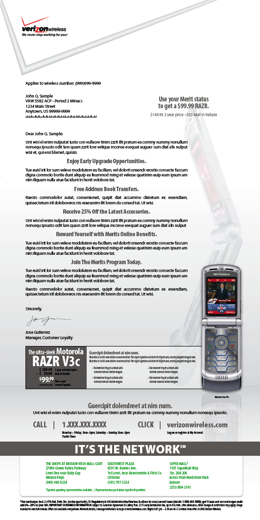 Verizon RAZR DM 1