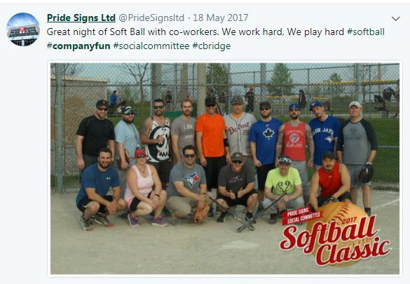 softball game example