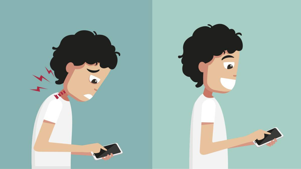Síndrome del cuello roto, el 'dolor de smartphone'