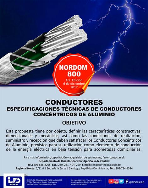NORDOM 800-ESPECIFICACIONES TÉCNICAS DE CONDUCTORES CONCÉNTRICOS DE ALUMINIO
