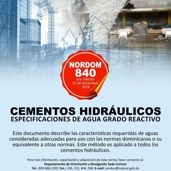 NORDOM-840 Cementos Hidráulino