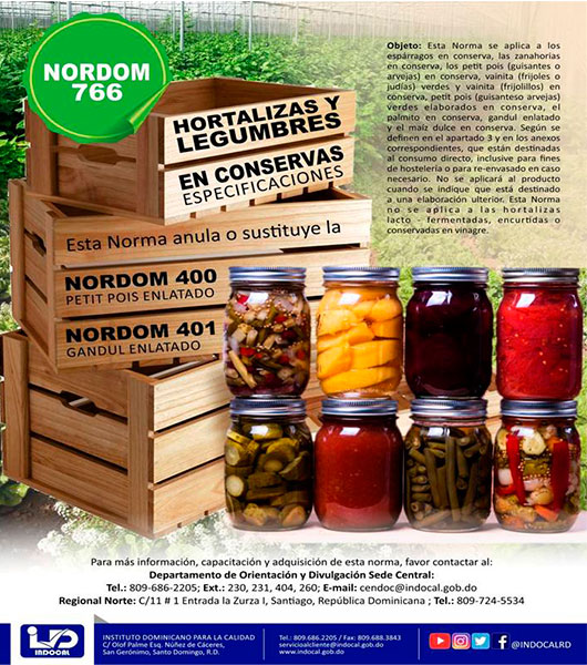 NORDOM-766 Hotalizas y legumbres en conservas
