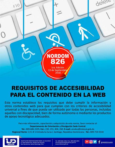 NORDOM-826 Requisitos de accesibilidad para el contenido en la web
