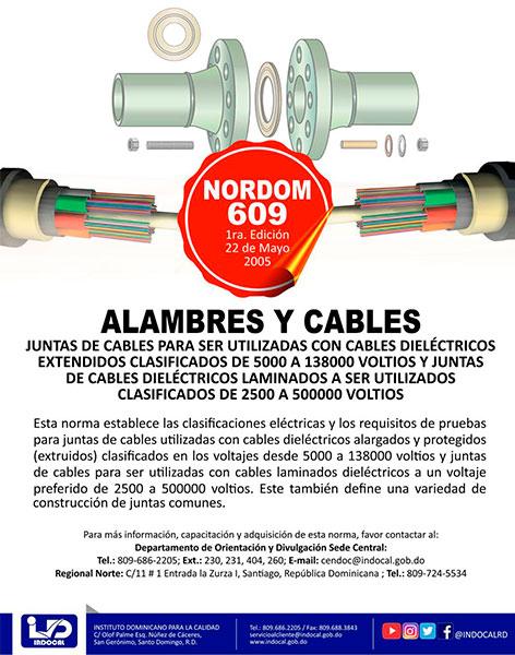 NORDOM-609 ALAMBRES Y CABLES