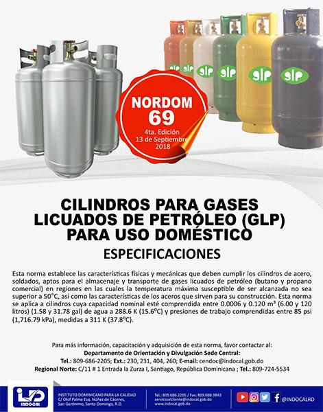 NORDOM-69 CILINDROS PARA GASES LICUADOS DE PETRÓLEO (GLP) PARA USO DOMÉSTICO