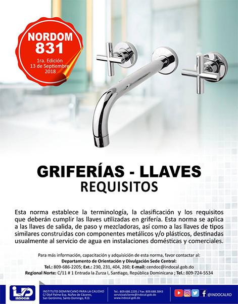 NORDOM-831 GRIFERÍAS-LLAVES