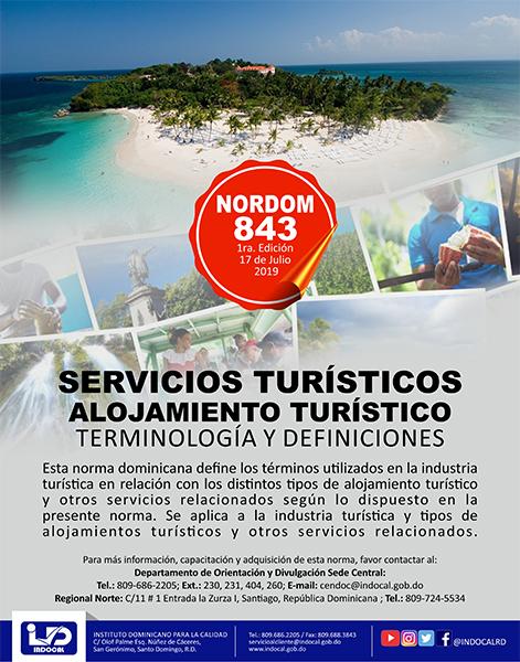 NORDOM-843 SERVICIOS TURÍSTICOS ALOJAMIENTO TURÍSTICO-TERMINOLOGÍA Y DEFINICIONES