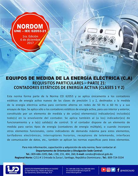 NORDOM-UNE-IEC-62053-21 EQUIPOS DE MEDIDA DE LA ENERGÍA ELÉCTRICA