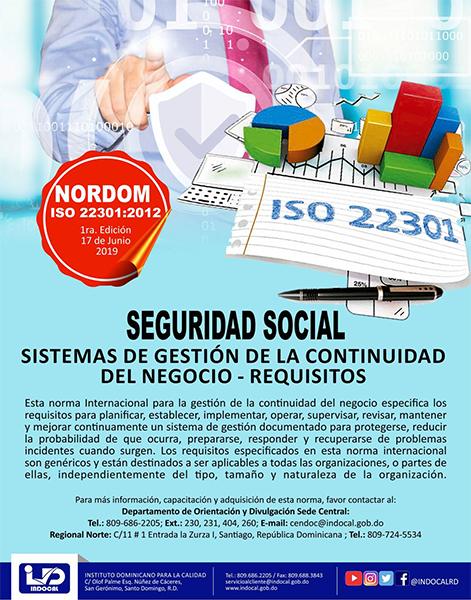 NORDOM-ISO-22301-2012-SEGURIDAD-SOCIAL