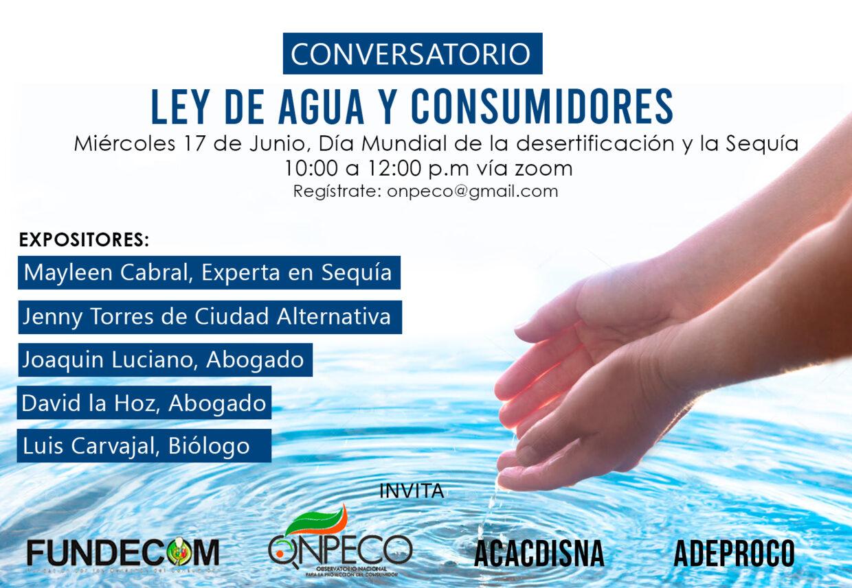 """Grabación sobre el conversatorio sobre """"La ley de Agua y Consumidores"""""""