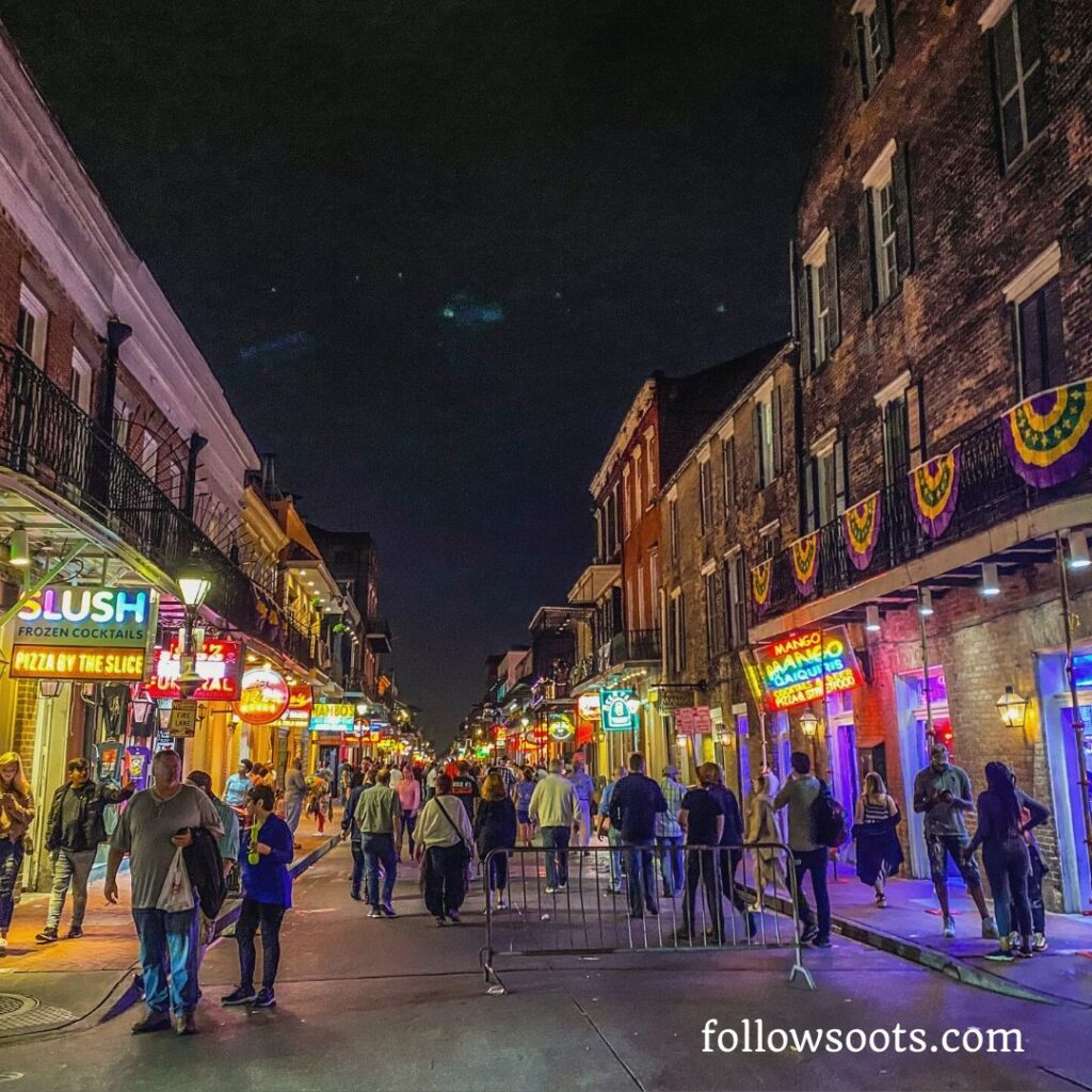 Another of the top sites to see in New Orleans is Bourbon Street