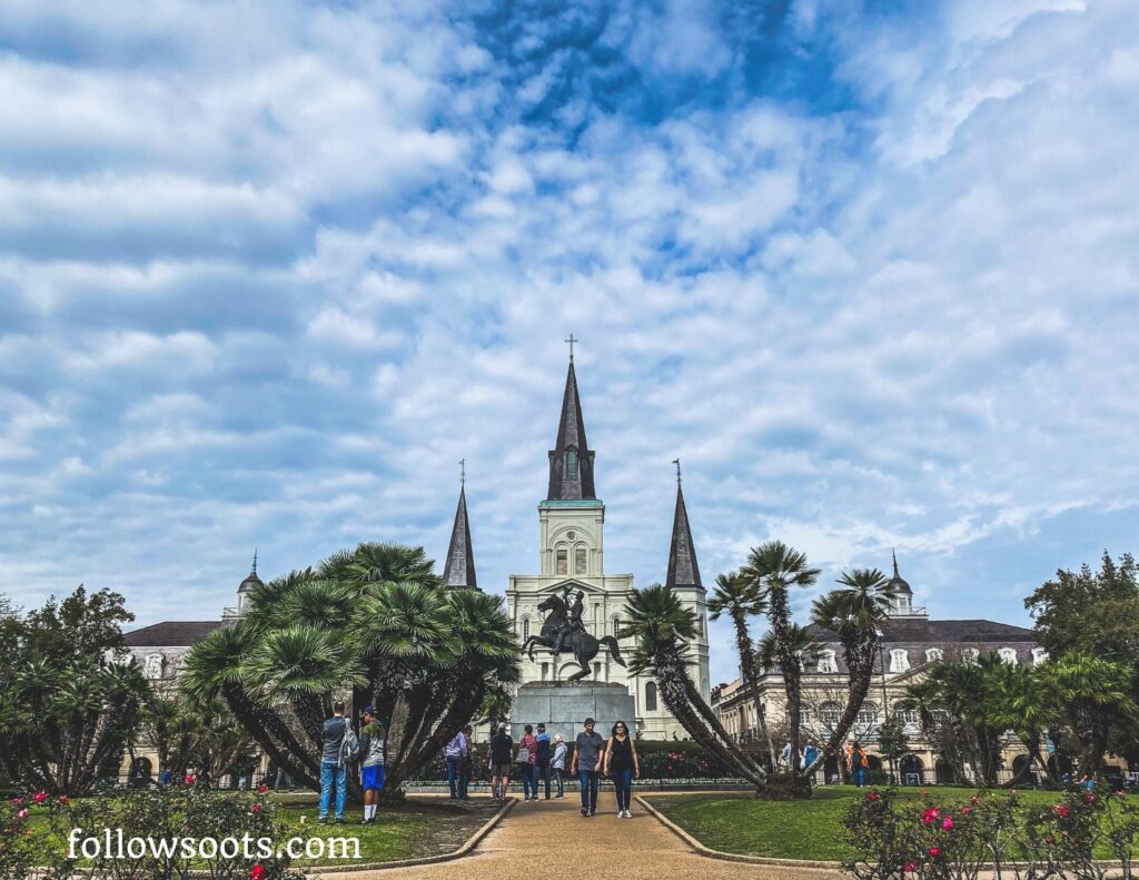Jackson Square is one of the most visited sites too see in New Orleans