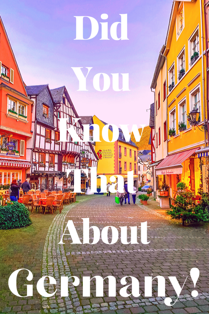 Did you know that about Germany