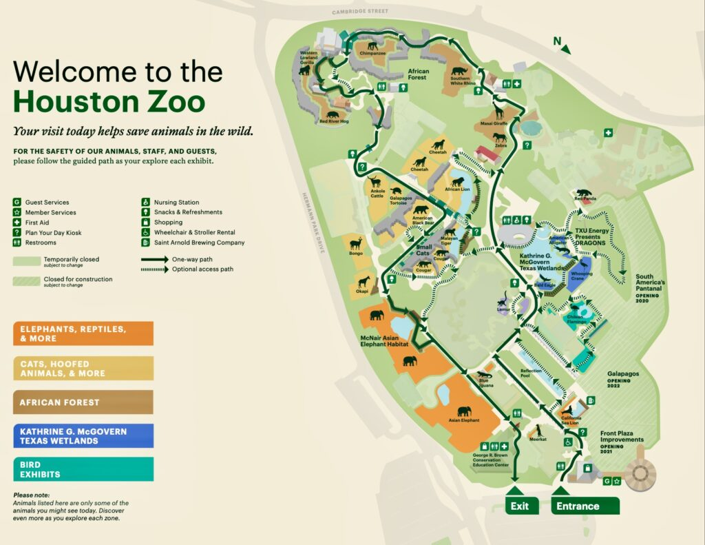 The Houston Zoo is one of the cool places to see in Houston