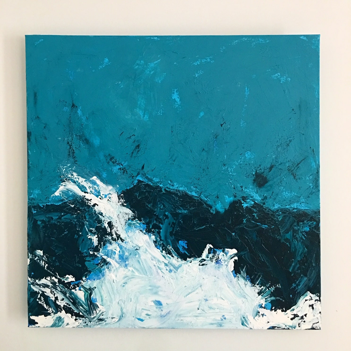 Harbor Wave Acrylic 20″ sq