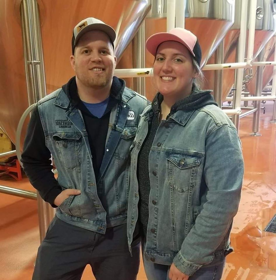 Owners and brewers Andrew and Molly Frana