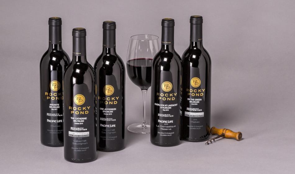 Rocky Pond Winery Corporate Bottle Gifts