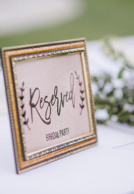 Bridal Party Sign