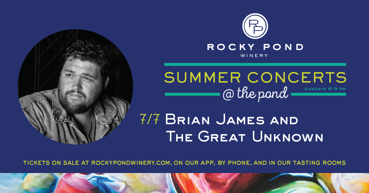 Rocky Pond Winery Summer Concerts Brian James