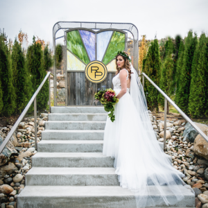 Rocky Pond Weddings Bride and Gate