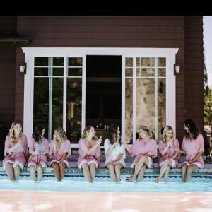 Bridal Party at the pool