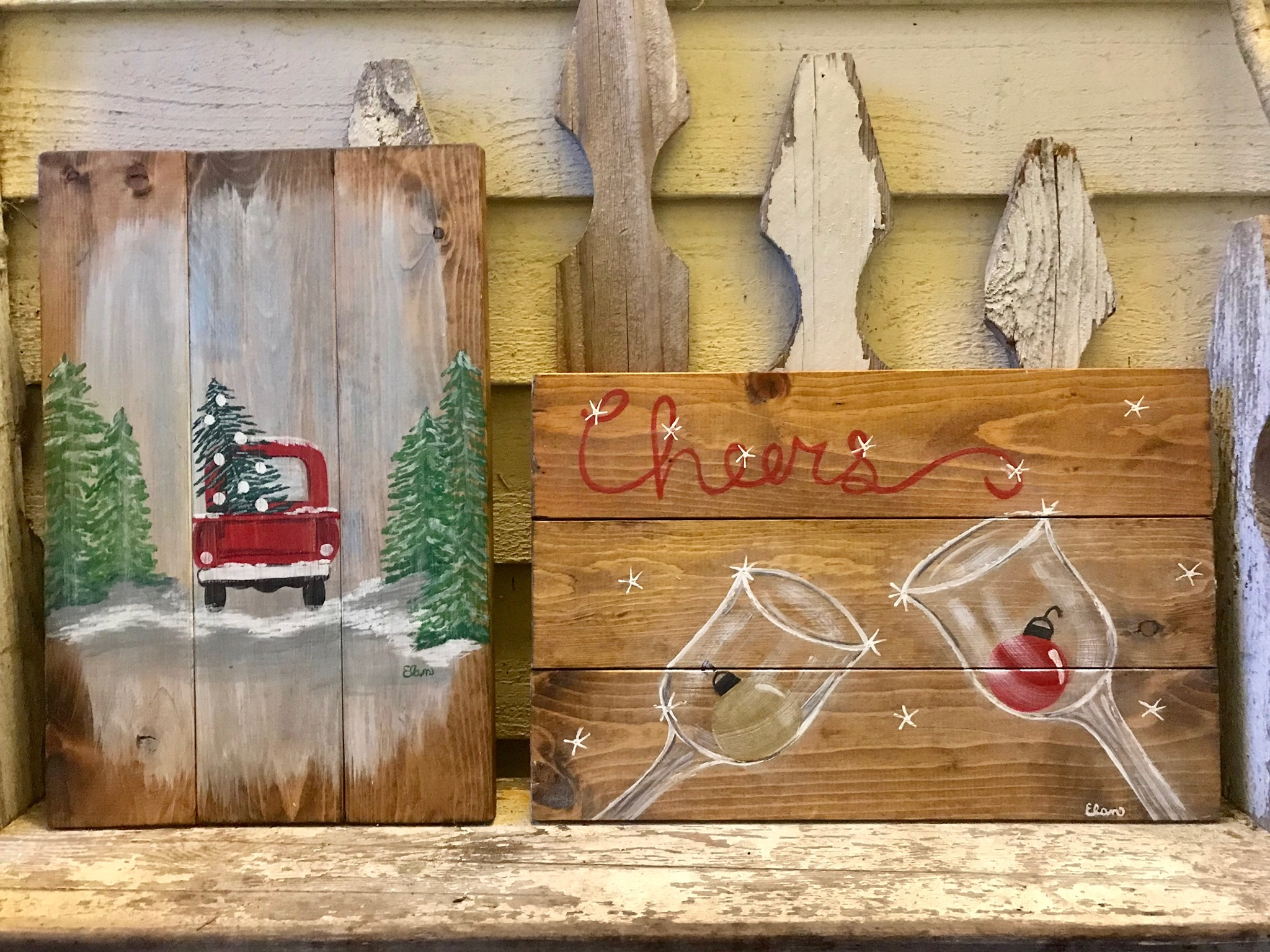 Christmas Paint & Pallet with ALways BeArtiful