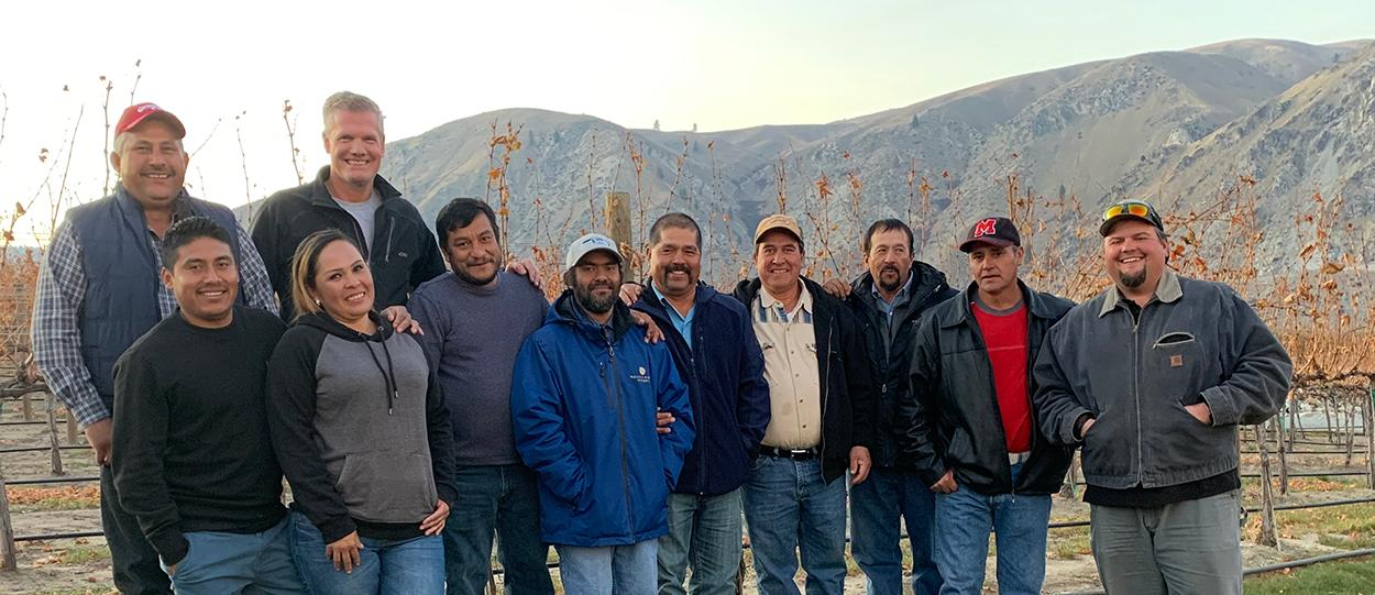 Rocky Pond Winery Vineyard Crew