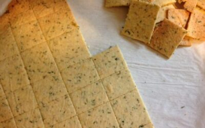Garlic Herb Almond Crackers