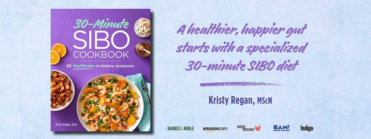 20 Minute SIBO Cookbook by Kristy Regan