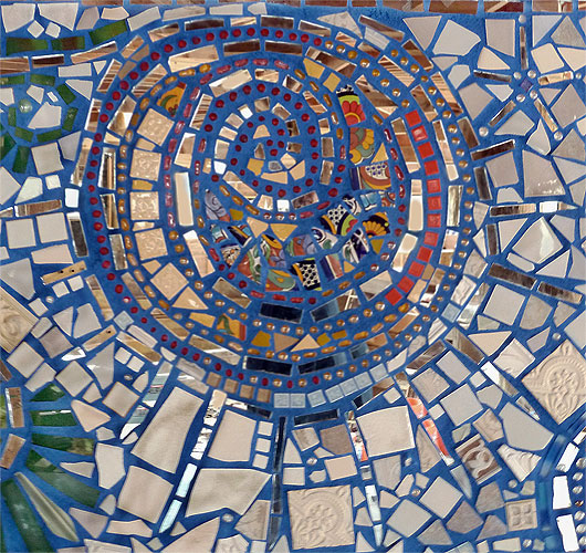Uncategorized  Flow-Mosaic Mural sun2-web
