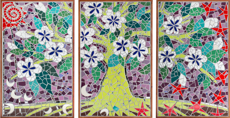 mosaic mural mural art tree of life Uncategorized  Triptych Mosaic Mural Screenshot-2013-07-29-at-10.07.58-PM