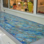 architectural mosaics glass mosaic mosaic art tempered glass mosaic utilitarian art  Glass Mosaic Countertop for Outdoor Kitchen DSC_0210-150x150