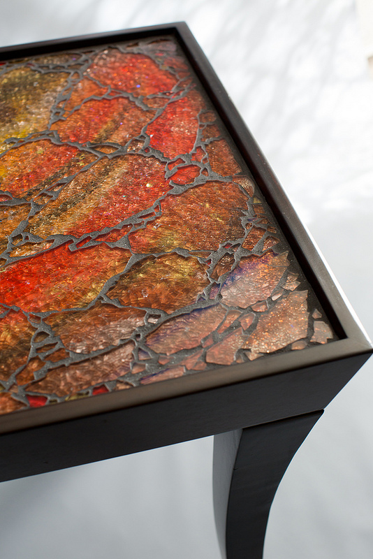 Uncategorized  Fire Mosaic Table tablec2