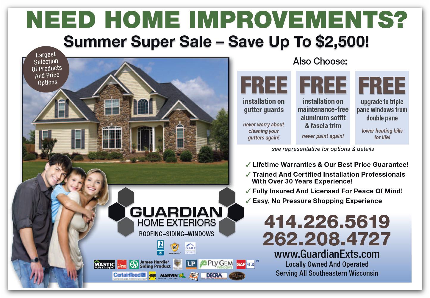 Milwaukee Area Home Improvement Contractor Guardian Inc