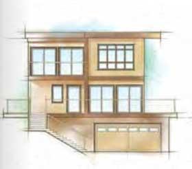 contemporary wood windows