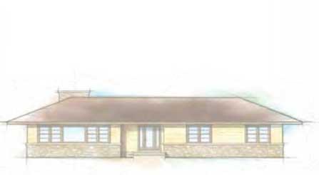 ranch style wood windows