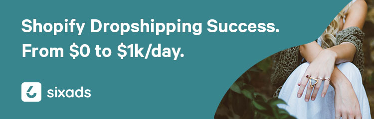 Shopify dropshipping success. From 0 to 1k per day