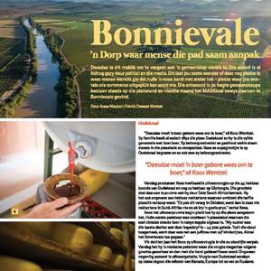 201904 MARKtoe article: Bonnievale: 'n dorp waar mense die pad saam aanpak by Anna Mouton.