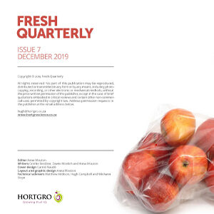 Layout of Fresh Quarterly December 2019 designed by Anna Mouton.