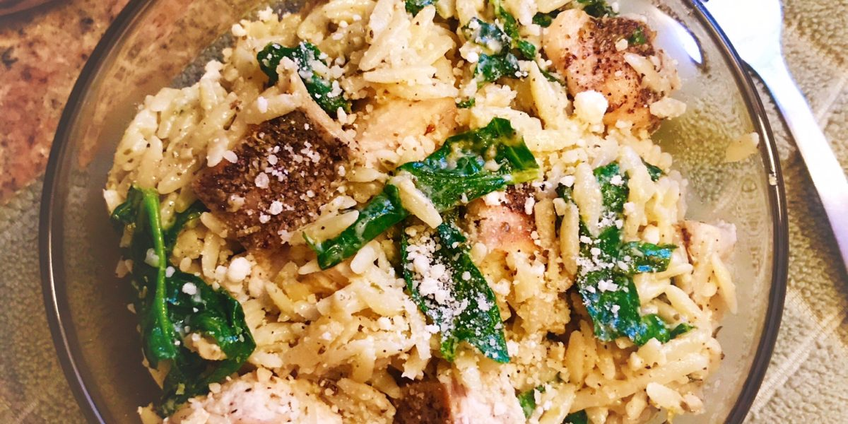Creamy Pesto Chicken, Chicken Dinner, Chicken & Orzo, Orzo, Dinner Recipe, Pesto