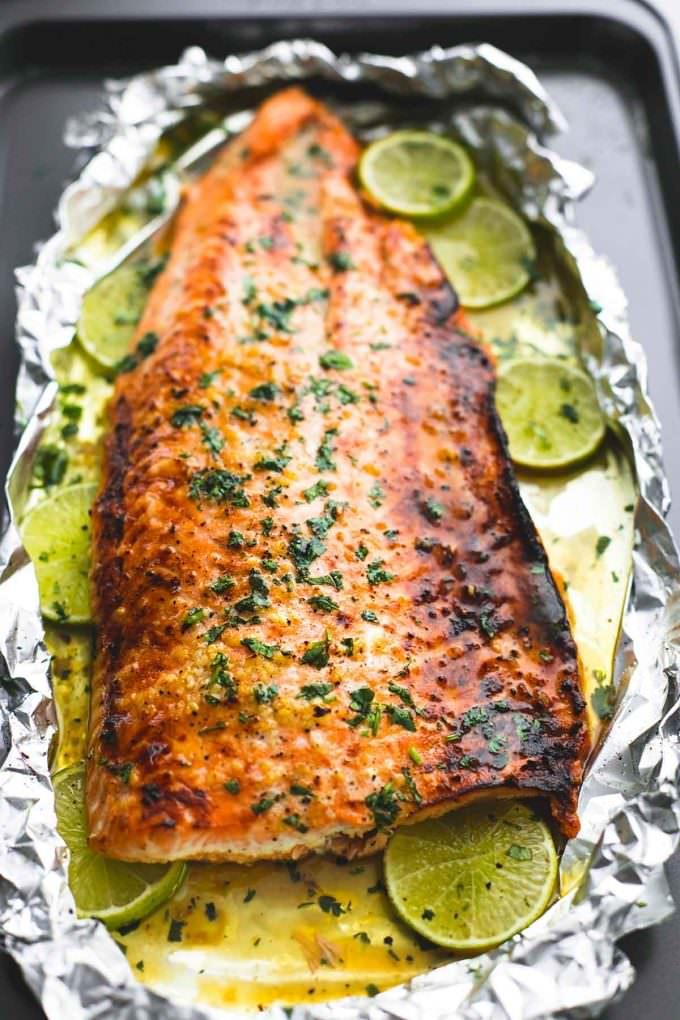salmon, foil dinner, easy dinner, healthy dinner, healthy, honey lime salmon, dinner