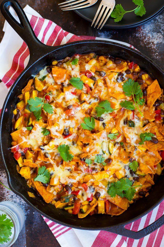 one pan, enchiladas, easy dinner, vegan, healthy dinner
