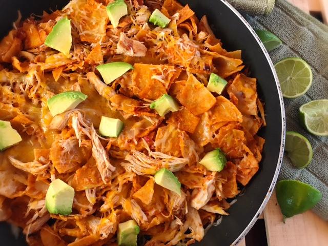 easy one pan dinner recipe, one pan dinner, chicken enchiladas, chicken dinner, easy dinner recipe