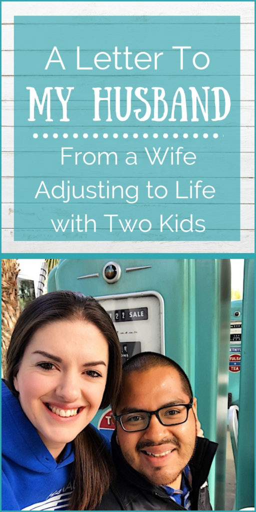 Going from being a couple to a couple with kids is a HUGE change, especially when you struggle with postpartum mental health issues. I couldn't be the mom I am today without the support from my husband. | Letter to Husband from Wife | Thank You Letter to Husband | Message to Husband | Letter to Husband #parenting #motherhood #momlife #baby #newbaby #openletter