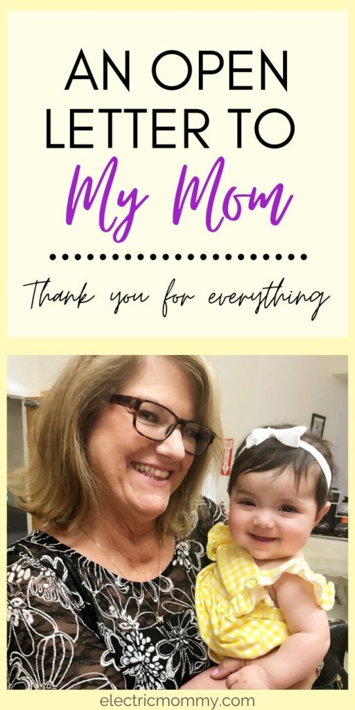 An Open Letter to My Mom - Thank You! My mom raised us on her own and I have a new found respect for everything she did now that I'm a mom. Motherhood | SAHM | Mother Daughter | Mother's Day | Letter to Mom #lettertomom #mothersday #openletter