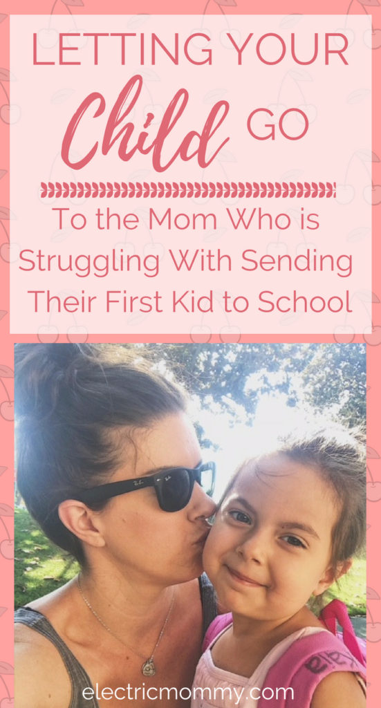 Are you having a hard time letting go of your child and watching them head off to school? I know I am. I am full of emotion and I wasn't expecting it. Here is an honest post about what I am feeling and how I plan on coping. | Anxiety About Child Starting School | Back to School Nerves | To the Mom Who is | Moms with Anxiety #anxiety #backtoschool #anxiousmama #momminainteasy