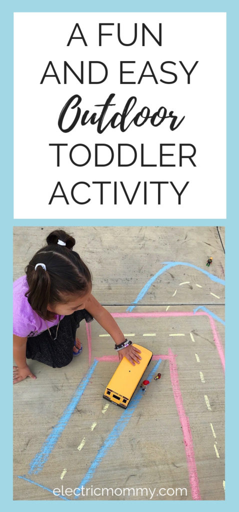 My daughter came up with a really cute game that encourages her imaginative play and keeps her busy for a while! (Yay for Mom! :) Here is an activity that gets your child outdoors and is super easy! Fun Outdoor Toddler Activity | Outdoor Activity for Toddler | Toddler Outdoor Activity Ideas | Outdoor Activities for Kids | Fun Activities for Kids #toddleractivities #kidactivities #preschoolactivities #outdooractivities #ad #cbias #playwithplaymobil