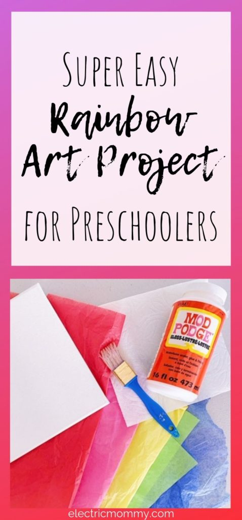 This rainbow art project is not only easy, but really fun! My daughter had a lot of fun with this one. It's a perfect rainy day craft. Kids Activities | Easy Crafts for Kids | Art Projects for Kids | Preschool Activities | Preschool Crafts | Easy Crafts for Toddlers | Summer Crafts for Kids #craftsforkids #preschoolcrafts #kidactivities #artsandcraftsforkids #artsandcrafts #rainbowart #preschoolprojects